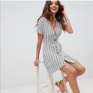 ASOS Stripe Button Mini Dress